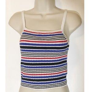 H&M Ribbed Striped Tank Top